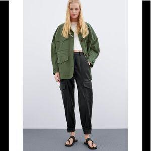 Zara Faux Leather Oversized Pants 💞